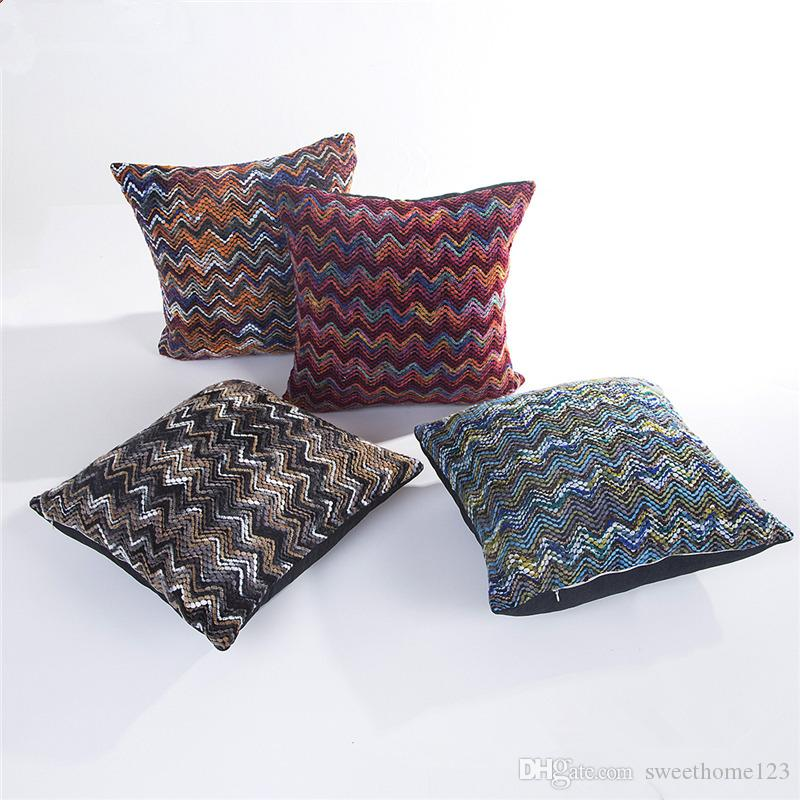New Arrival 7 Styles Knitting Fashion Spandex Blend Cushion Cover