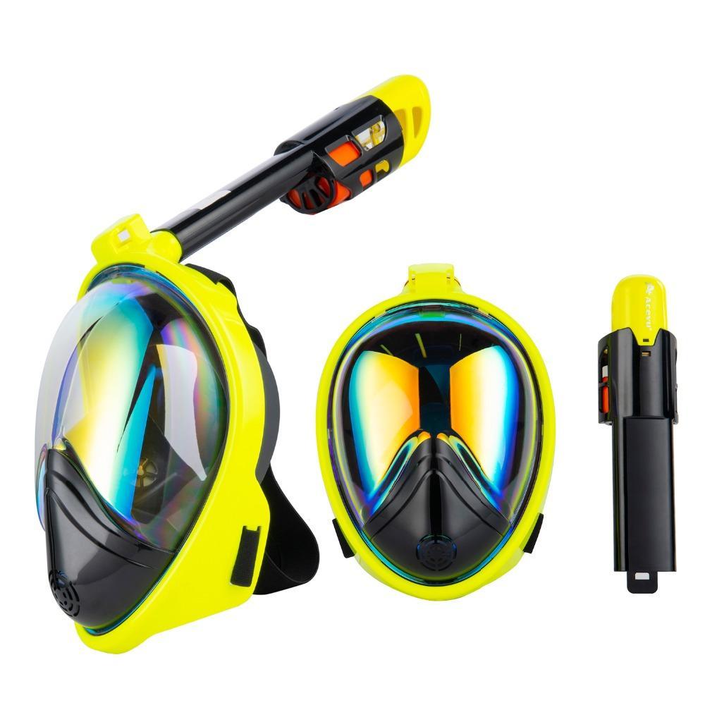 3ba4f9f1ade 2019 Diving Mask Scuba Underwater Anti Fog Full Face Snorkeling Mask Women  Men Sports Swimming Snorkel Equipment Full Face Training From Stem