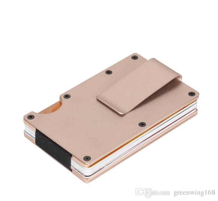 d6a878a8a9e Metal Credit Card ID Holder Fashion Mini Money Holder With RFID Anti Chief  Wallet Automatic Credit Card Holder Man Bags Mens Bags From Greenwing168,  ...