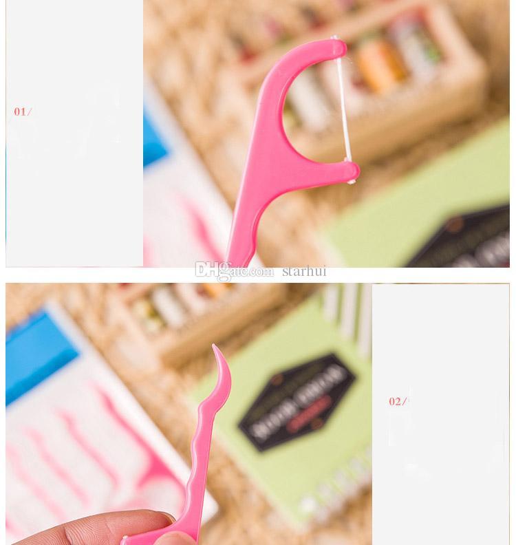 /구두 건강 테이블 부속품 공구 Opp 부대 팩 DHL 배를 위한 세트 플라스틱 이쑤시개 면 치실 이쑤시개 지팡이 WX9-525