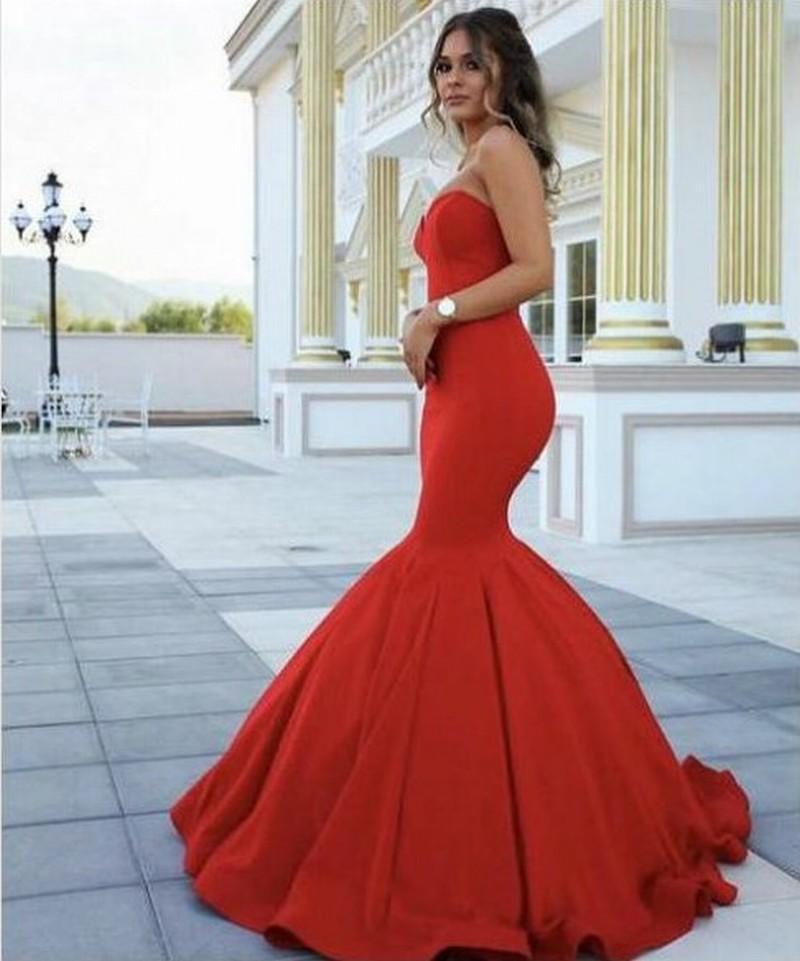 Robes De Soirée Formelles Femmes Rouge Chérie Sirène Robe De Mariée Occasion Spéciale Robe De Soirée Demoiselle D Honneur 17lf185