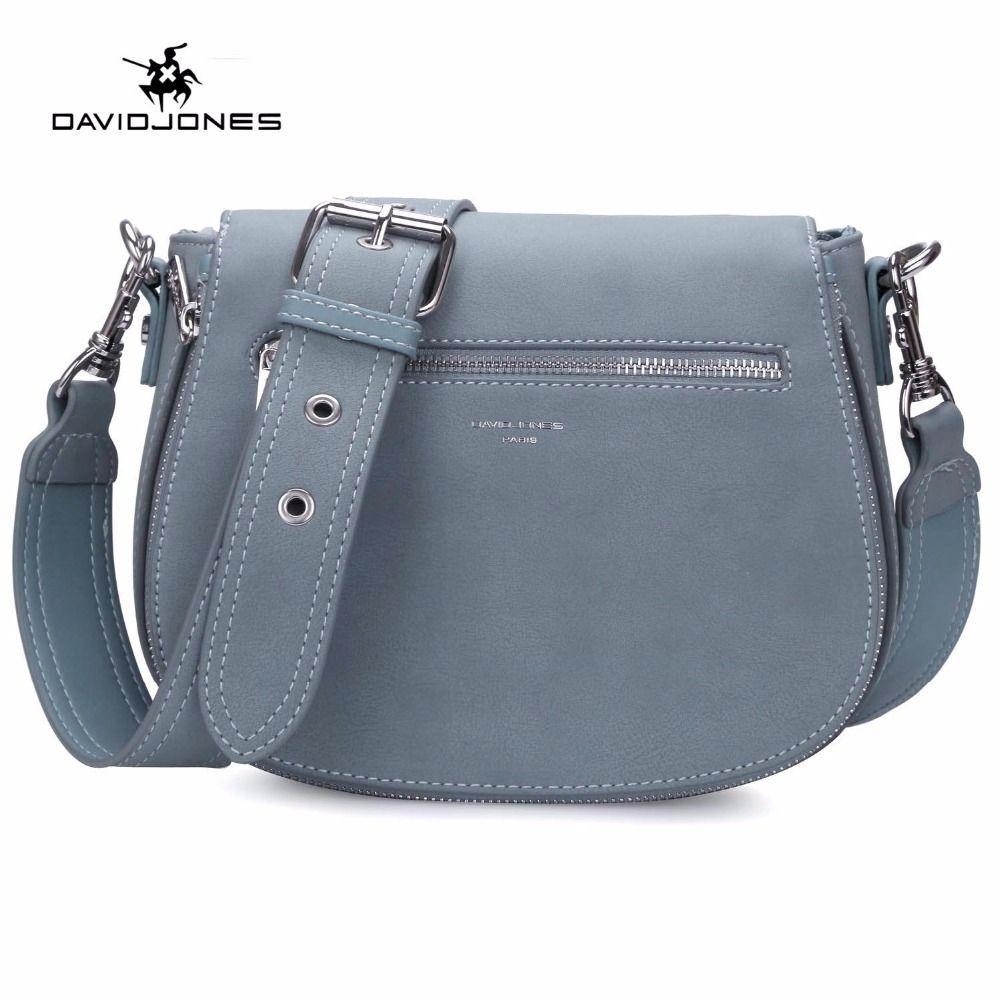 DAVIDJONES Women Saddle Bag PU Cossbody Small Messenger Femal Shoulder Bags  Shoulder Bags Women Saddle Bag Cheap Saddle Bag Online with  51.5 Piece on  ... e0f308980f7a9