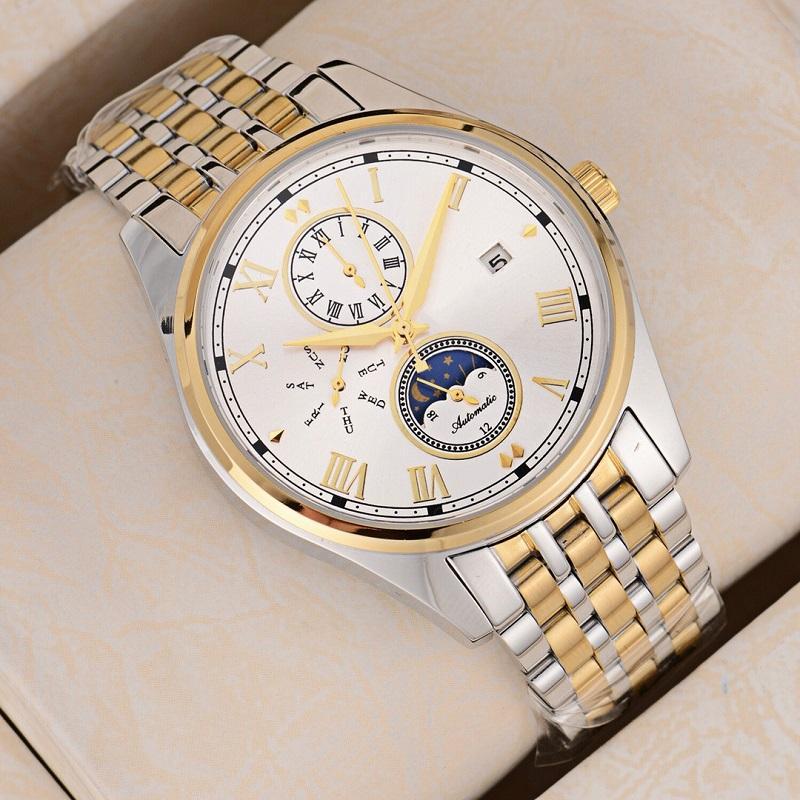 f192df8b62e Luxury Watches for Men Brand Watch AAA Watch Fashion Fine Steel Belt ...