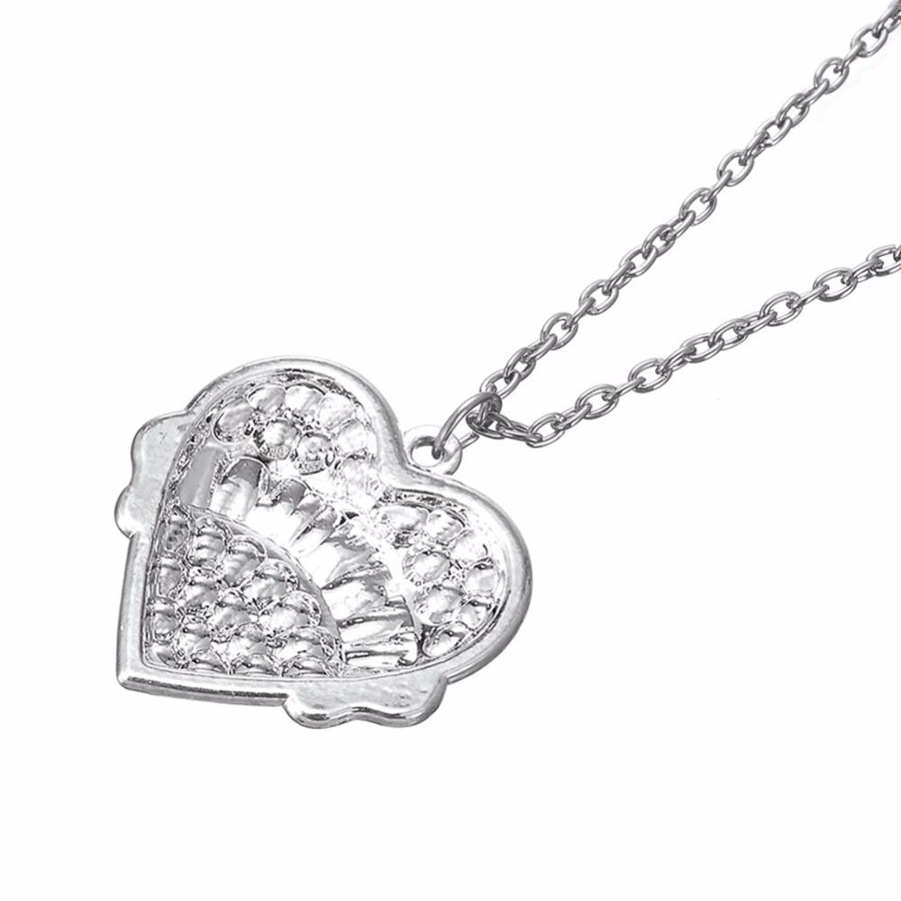 Lemegeton Top selling GYMNASTICS sporty necklace Crystal Heart Pendant Necklaces