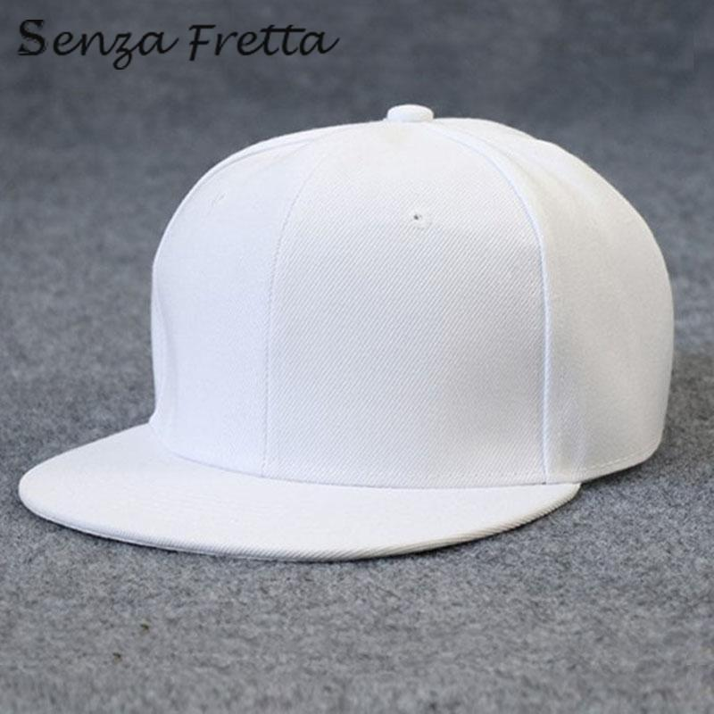 218ede3e6 New arrival Baseball Cap Plain Two Tone Snapback Adjustable One Size Hat  New Flat Bill Black D02504