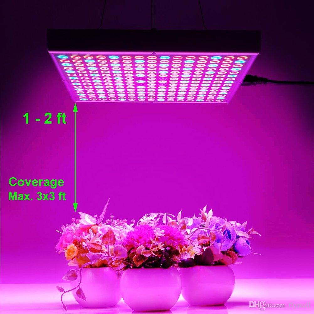 45W LED Grow Light Full Spectrum UV IR Red Blue 225 LEDs Indoor Plant Growing Lamp Bulb for Hydroponics Aquaponics Greenhouse Veg Flower