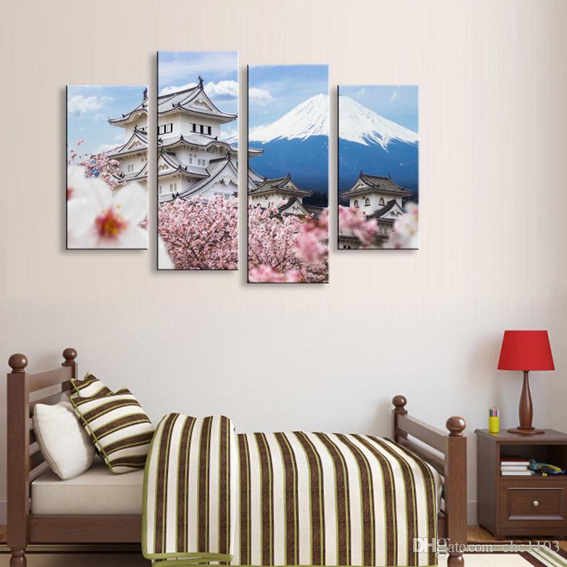 Großhandel Malerei Kalligraphie Mount Fuji Leinwand Poster Wand ...