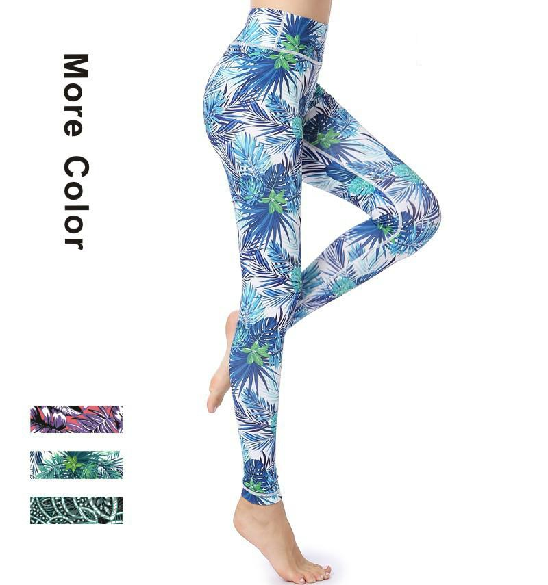 eb61f50f3ec54b Elliehouse Sexy Yoga Pants Digital Printed Women's Full-Length Yoga ...