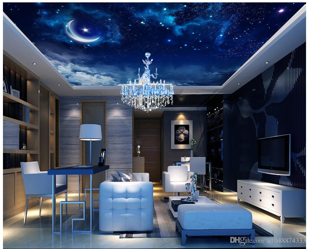 Großhandels-Moderne 3D Wallpaper benutzerdefiniertes Foto Decke Wandtapete Traumstern-Himmel-Decke Wohnzimmer Wandpapier Zenith Wandschmuck