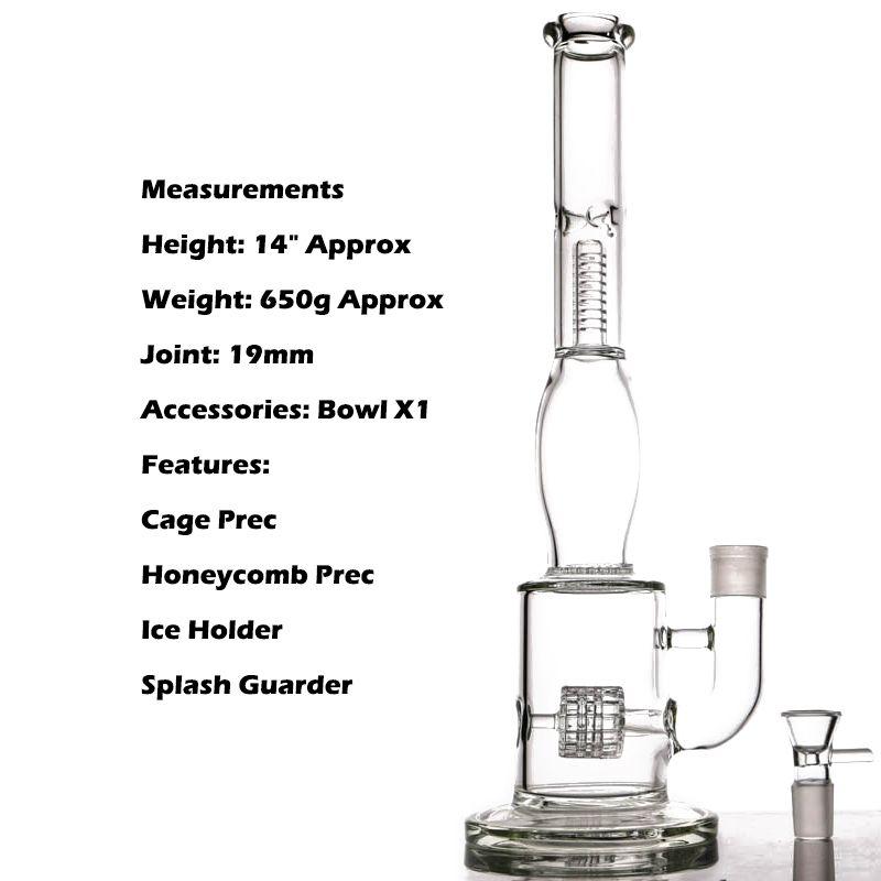 Favo De Mel Bong Fabricação de Tubulação De Água de Vidro de Venda Quente Com Estilo de Pneu E Favo De Mel Difusor de Vidro Bongos De Vidro Coador