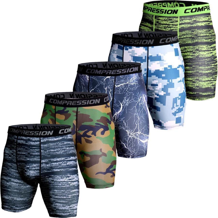 distribuidor mayorista 98ec8 9ae42 Pantalones cortos de compresión Bermudas de camuflaje de verano Pantalones  cortos de ejército de hombres Pantalones cortos de compresión de impresión  ...