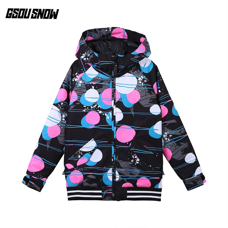 f072c5dd3 2018 GSOU SNOW Girls Ski Jacket Snowboard Clothing Windproof Waterproof  Breathable Thermal Kids Children Winter Coat Skiing Coat