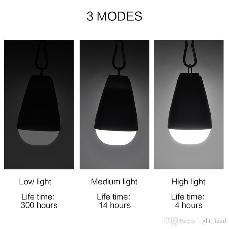 Lanterna da campeggio portatile a 12 LED USB ricaricabile 3 modalità dimmerazione con telecomando Tenda Luce IP65 Illuminazione interna interni