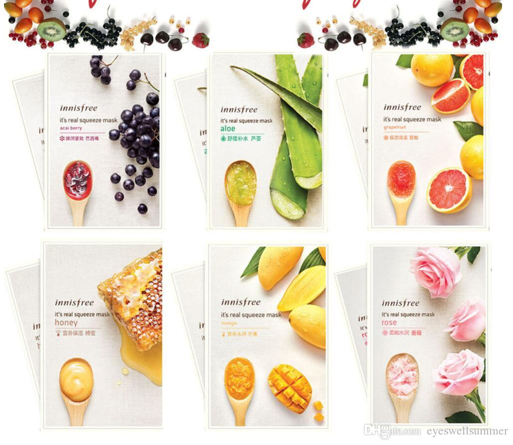 Innisfree Its Real Squeeze Mask Moisturizing Oil Control Sheet Black Berry Anti Aging Smooth Skin Korea Cosmetics Facial Best Face For Men
