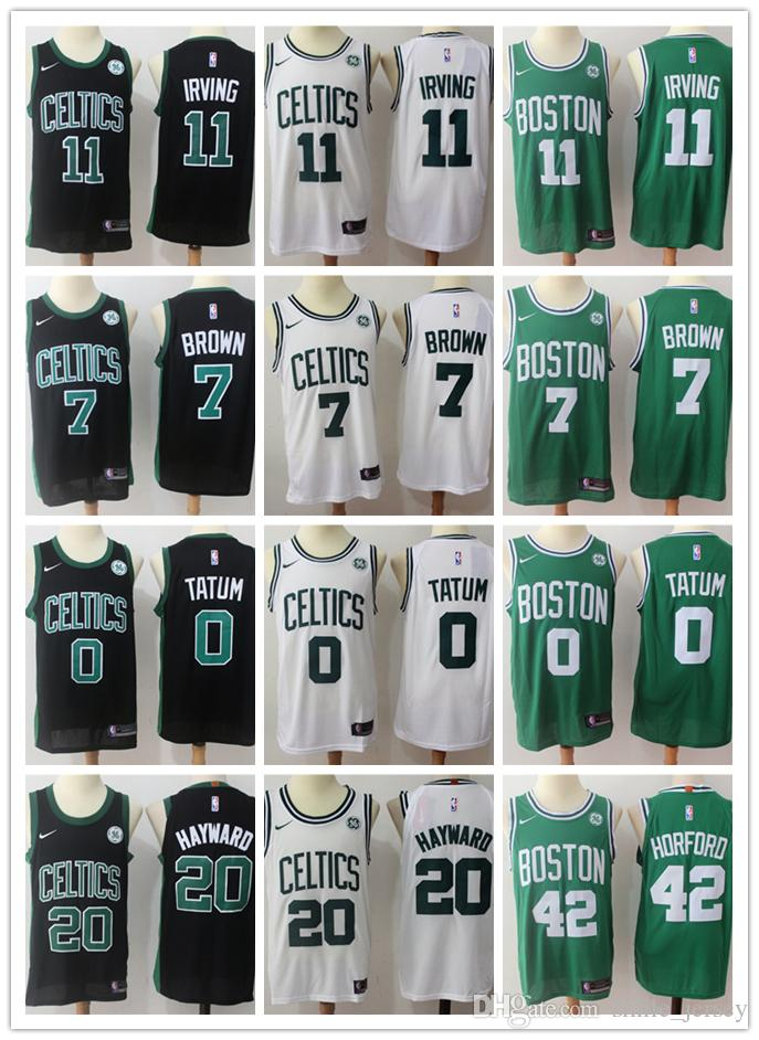 6ce102c48f6b 2019 Mens Boston Celtics Basketball Jerseys 11 Kyrie Irving 0 Jayson ...