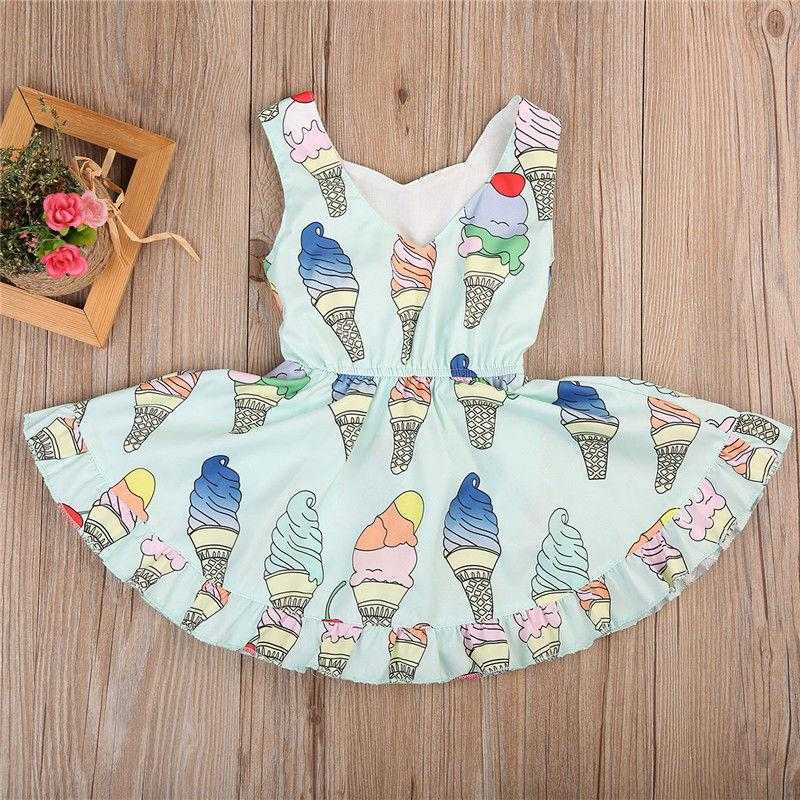 c314e7340134 2019 Fashion Ice Lovely Newborn Baby Girls Floral Romper Dress Jumpsuit  Playsuit Summer Outfits From Windowplant