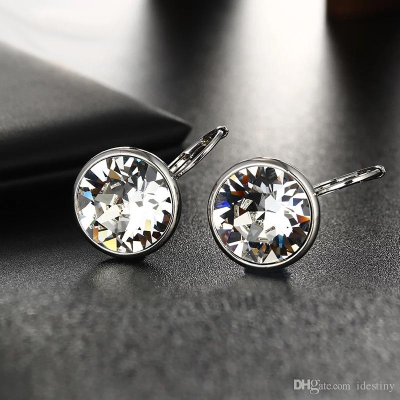 aa8503853 2018 New White Bella Crystal Stud Earrings For Women Crystals from ...