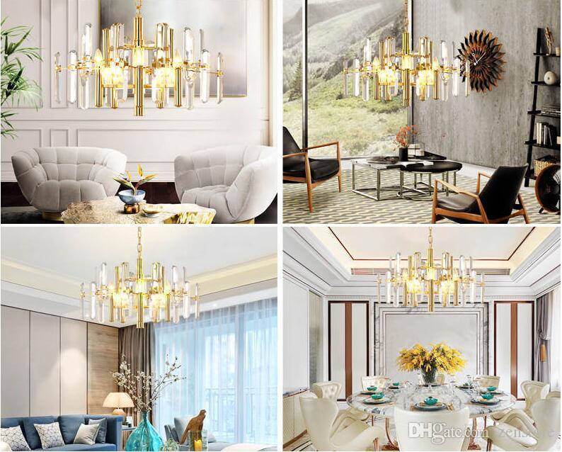 Girban Brand Modern Crystal Chandelier Lighting Luxury Chandelier Lamp for Bedroom Living Room Ceiling Lamp Corridor Hallway Lamp
