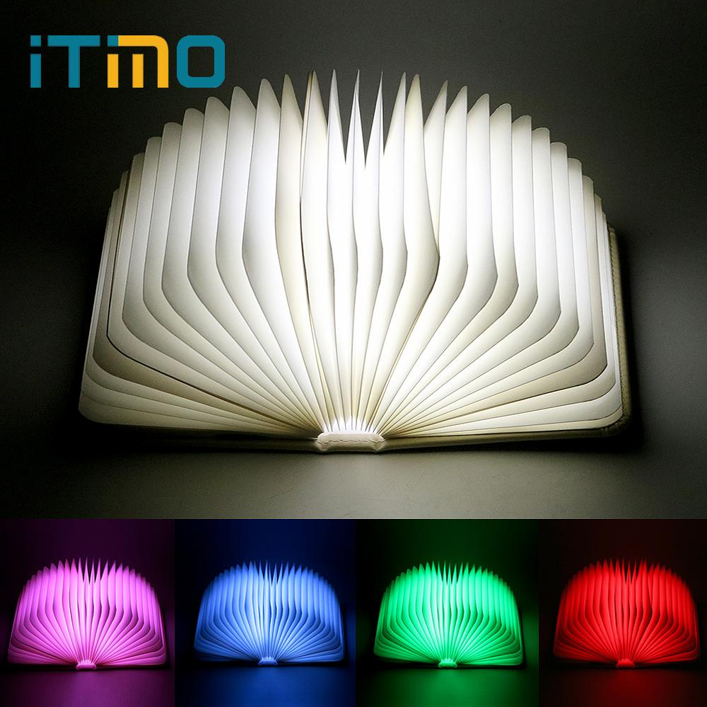 2018 Itimo Led Book Shaped Table Lamp Rechargeable Usb Port Folding ...