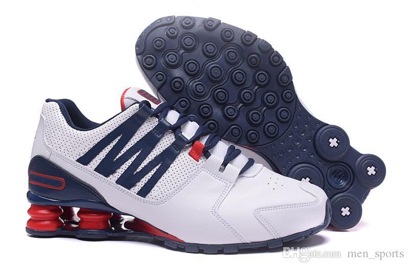 best sneakers ab070 f9d41 Compre Nike Shox Novo Homens Baratos Clássico Avenue 803 Fornecer Oz  Chaussures Femme Tênis Esportivos Treinador De Tênis Almofada Tênis Tamanho  40 46 De ...