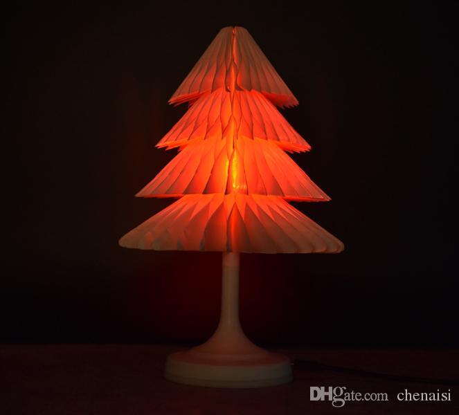 Couleurs Chambre Nuit Pliant Table Noël Nouveau Cocoa Enfants 7 Usb Touch De Led Décoration Arbre Lampe Changement ChdtsxQr