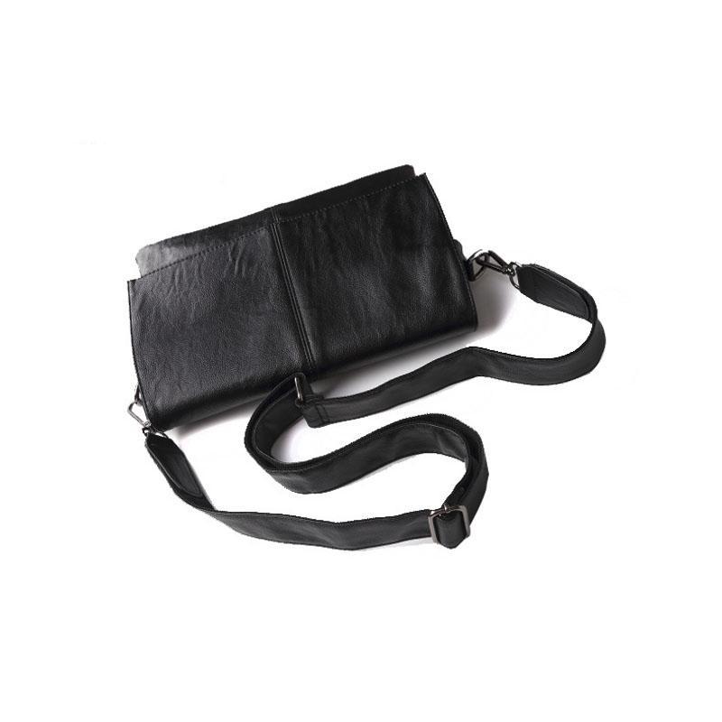 Beiläufige Umschlag-Handtasche bauscht sich Mann-Leder-Schulter-Umhängetasche Geschäfts-Schultaschen-Mann-Kurier-Taschen männliche Aktenkoffer