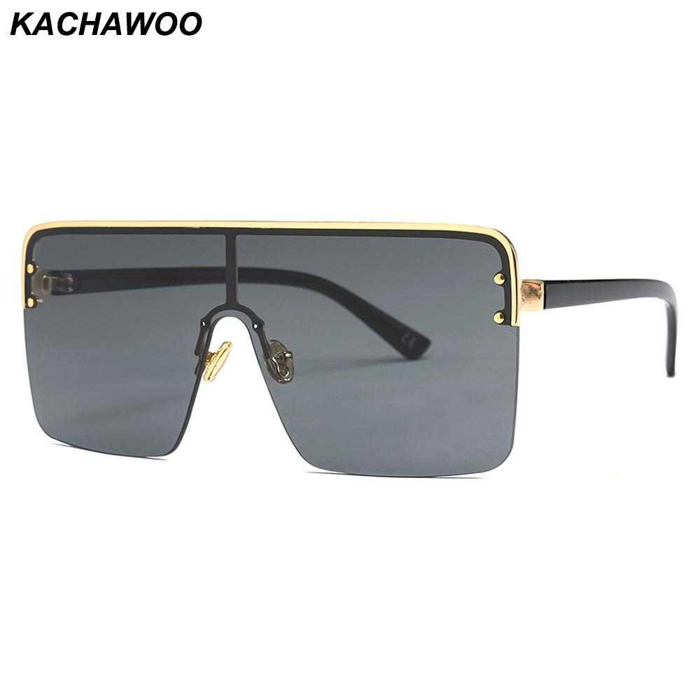 8e50dbf726a Kachawoo Oversized Square Sunglasses for Men One Pieces Lens ...
