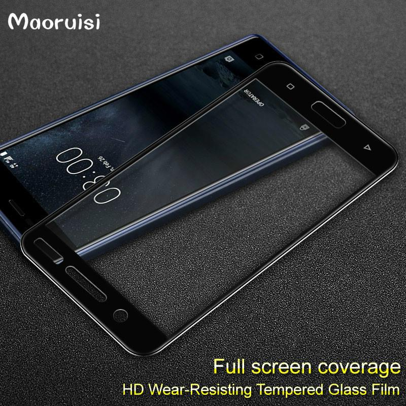 sports shoes bb782 8393d Full Cover Tempered Glass For Nokia 5 6 7 2017 5.2 Screen Protector For  Nokia 5 nokia heart TA-1008 TA-1030 Protective Glass Film