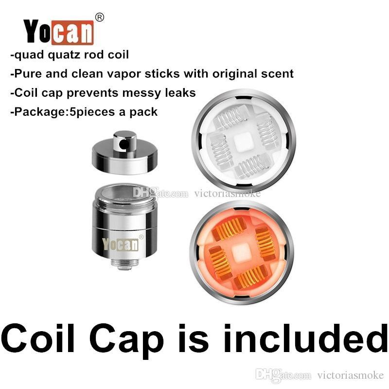 Original Yocan Evolve Plus XL cera QUAD bobina Quatz varilla Replacemen Coils cabeza con bobina para Evolve Plus XL Dab Pen Kit 100% auténtico