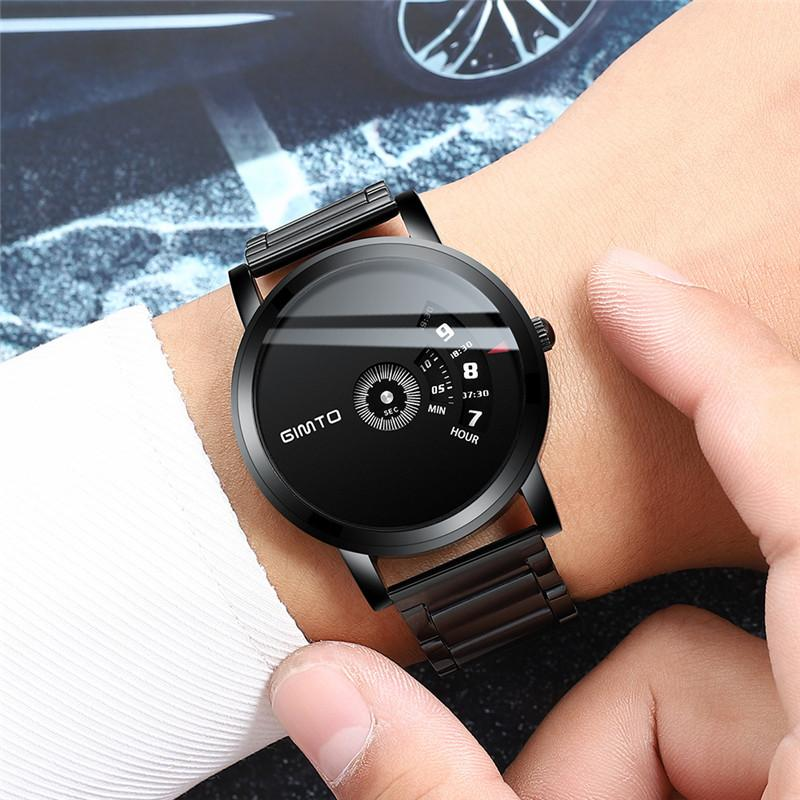 Модные Для мужчин часы лучший бренд GIMTO Спорт светодио дный Дисплей наручные