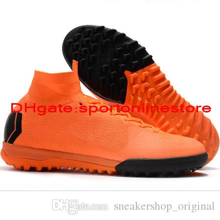 be808d62a 2018 Mens Kids Soccer Cleats SuperflyX 6 Elite TF Indoor Soccer Shoes Turf  Youth Crampons De Football Boots Boys Mercurial Superfly 360 Hot Shoes For  ...