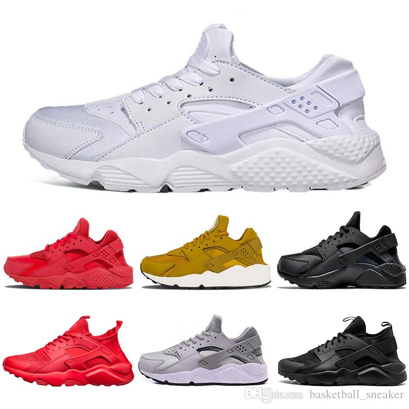 8c5dc4f81f16 Cheap Huarache 1.0 4.0 Running Shoes For Men Women Triple White Black Red  Sneakers Huaraches Mens Trainers Sports Shoe Size 36 45 Shoes Sports Spikes  Shoes ...