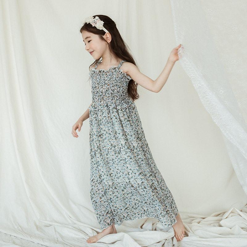 97a453c59ebab Satın Al Bebek Kızlar Şifon Straplez Elbise Çocuk Askı Prenses Elbiseler  2018 Yeni Yaz Pageant Tatil Uzun Elbise Butik Plaj Elbise, $35.08 |  DHgate.Com'da