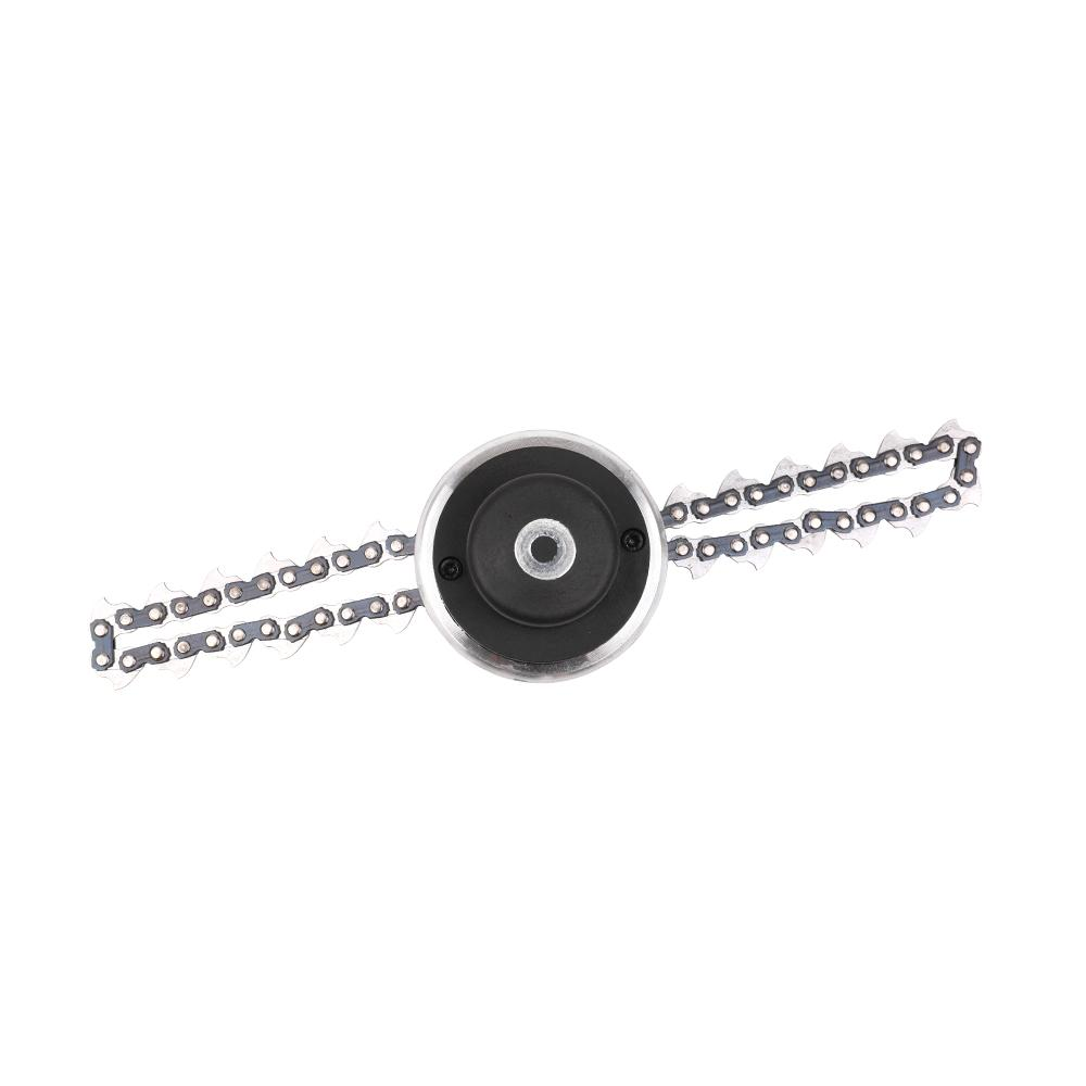 Multifunctional Brushcutter Chain Trimmer Head for Grass Cutter Lawn Mower Garden Tool Accessory Power Tools