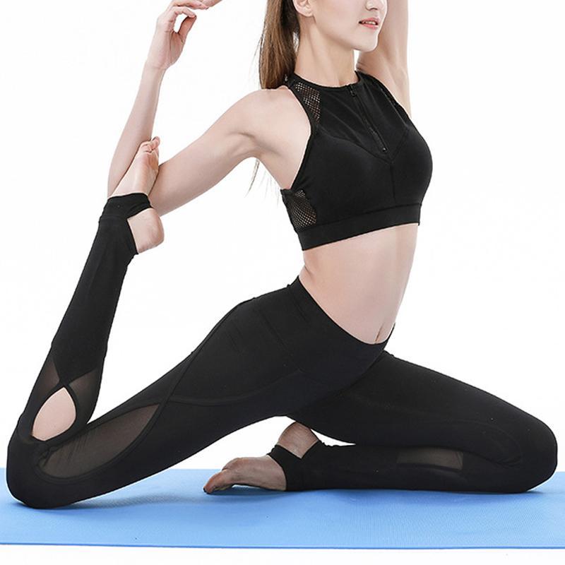 new product 7c712 edbcd Sportbekleidung Frau Gym Leggings Für Fitness Sport Frauen Leggins Kleidung  Yoga Hosen Capris Mesh Training Frauen Hosen Yoga