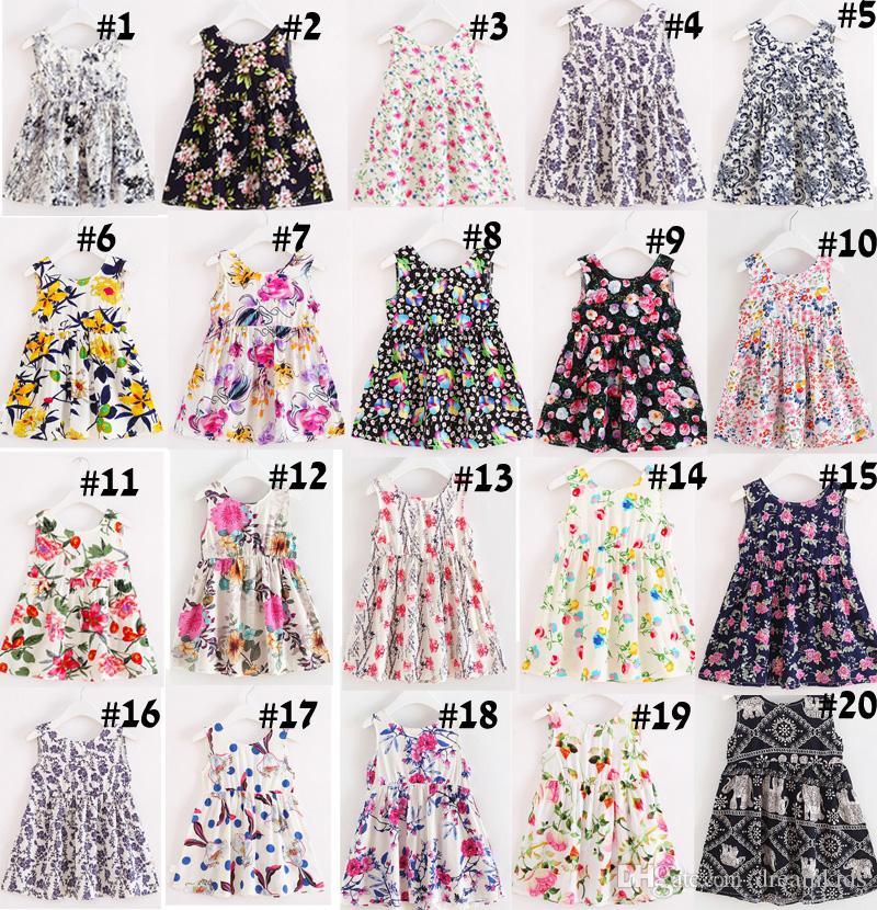 9beeebe80867 3-8 Years Girls Children Summer Dress Kids Teens Sleeves Printing ...