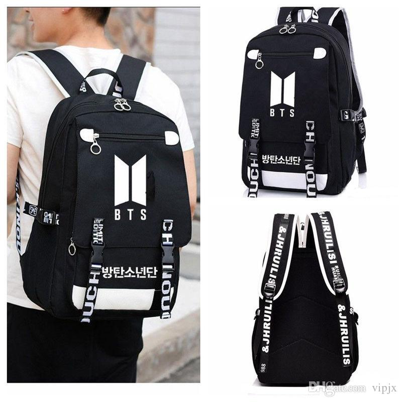 KPOP BTS New Logo Backpack Bangtan Boys School Shoulder Bag Jimin Jung Kook  Boy Backpack New Single Strap Backpack Backpack Brands From Vipjx