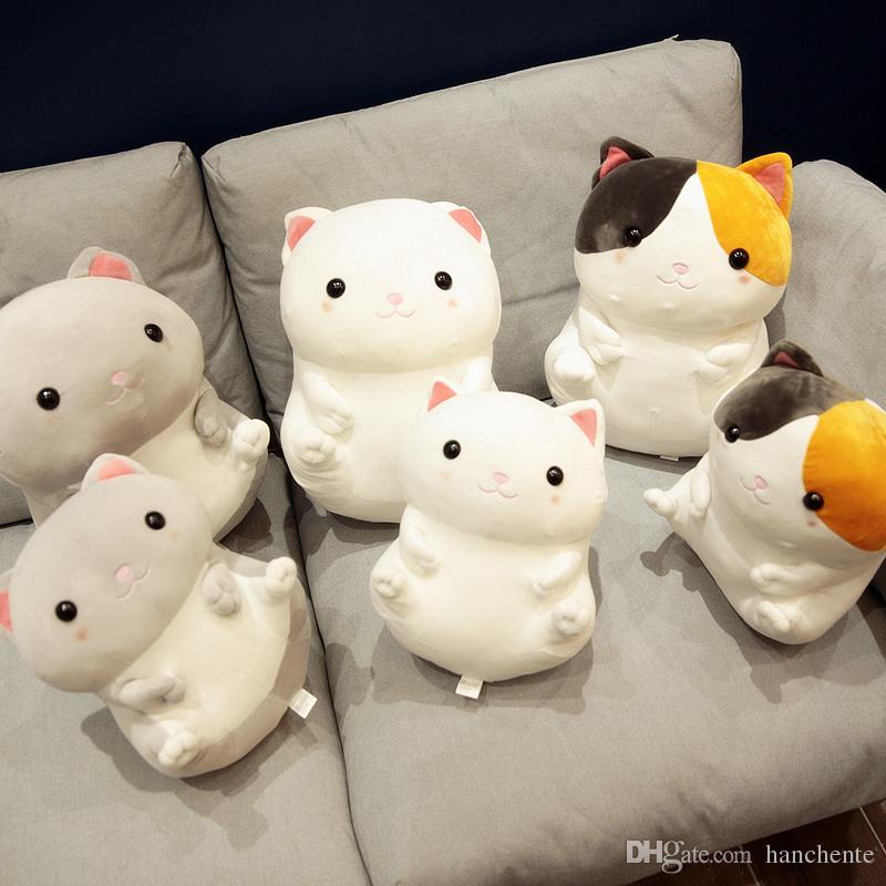 2019 Chubby Plush Fat Cat Stuffed Toy Pussy Plush Toy Standing Type