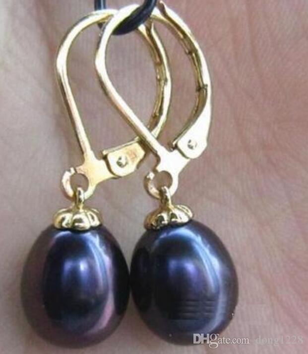 12x16mm Tear Drop South Sea Pink shell pearl silver Hook Dangle Boucle d/'oreille AAA