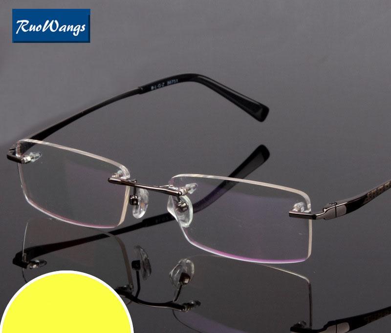 Compre RuoWangs Óculos Homens Mulheres Armação Óculos Oculos De Grau Aro  Sem Aro Óculos Armação Miopia Prescrição Óculos Rim De Hiramee,  21.5    Pt.Dhgate. 925901c8ff