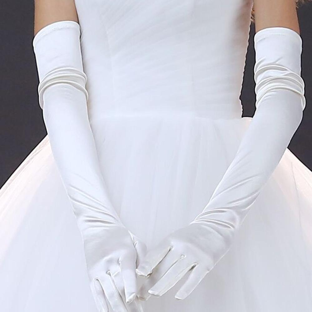 Long Satin Gloves Opera Wedding Bridal Evening Party Prom Costume Gloves Gift US