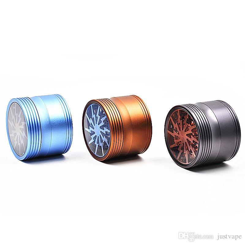 New Style Top Window 4 Layers Lightning Grinders 63mm Aluminum Available High Quality DHL