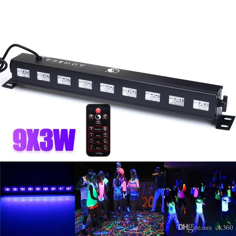 27w led bar black light uv purple led wall washer lamp 9x3w landscape lights stage lighting effect light or dj party christmas disco dj lights disco stage
