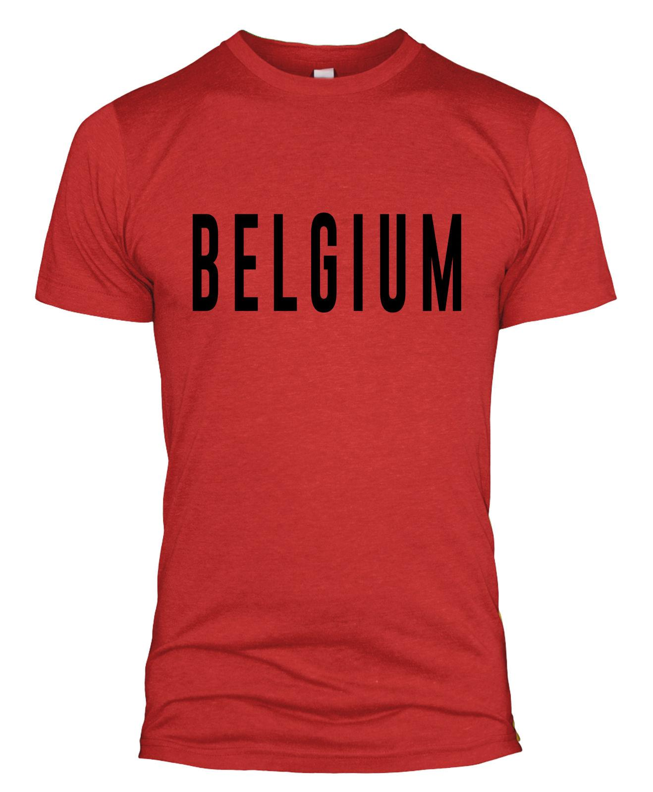 Belgium Text Retro T Shirt Russia World Cup 2018 Football Supporter Top Men  L254 Cool Casual Pride T Shirt Men Unisex New Fashion Tshirt Offensive T  Shirts ... 36ded827c