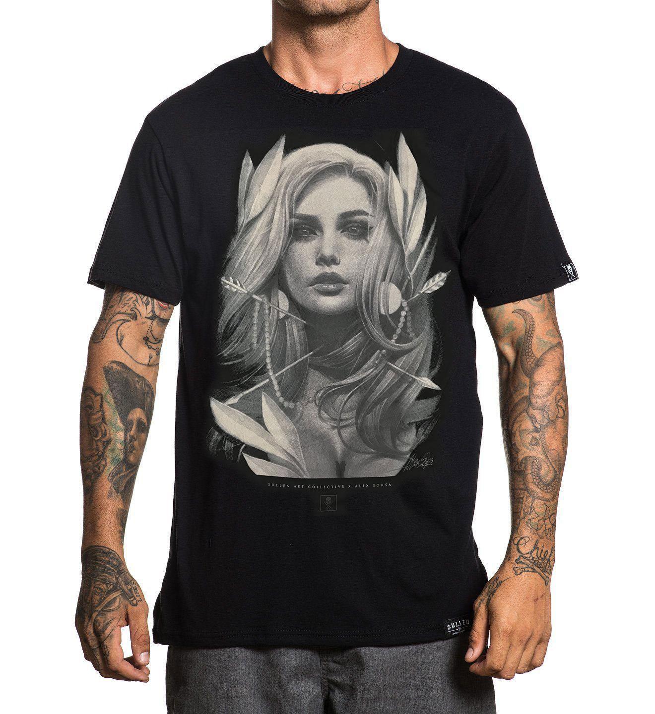 b4dc661b Sullen Men's Arrows T Shirt Black Hip - Hop Apparel Summer Short Sleeve  Shirts Tops S~3xl Big Size Cotton Tees Free Shipping