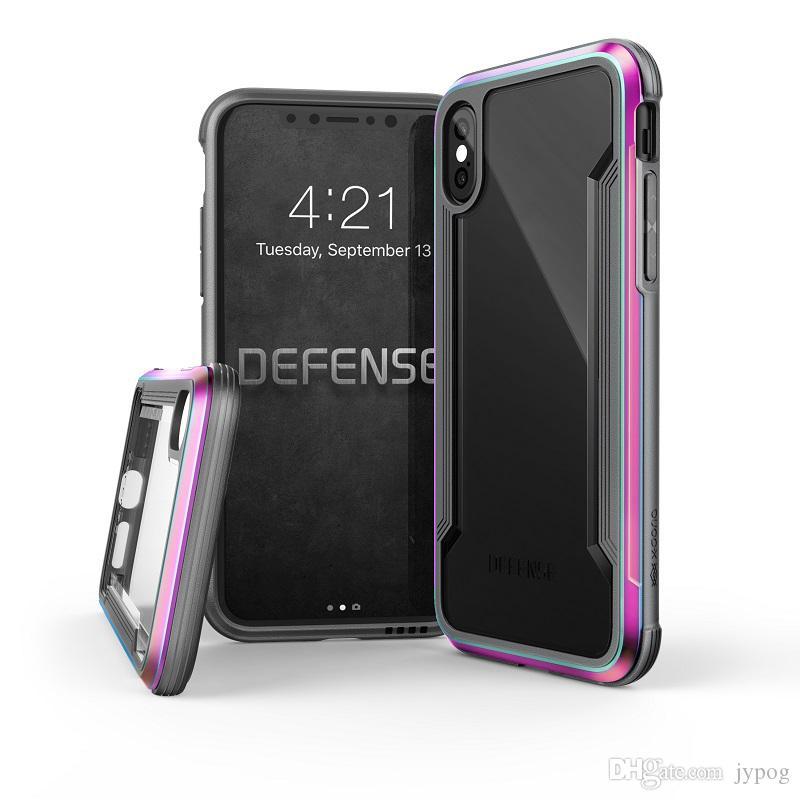 Für iPhone XS XR XS Max Gehäuse Defender Case High Impact Hart Rugged Back Cover Telefon Fall Sorgfältig für iPhone XR gebaut