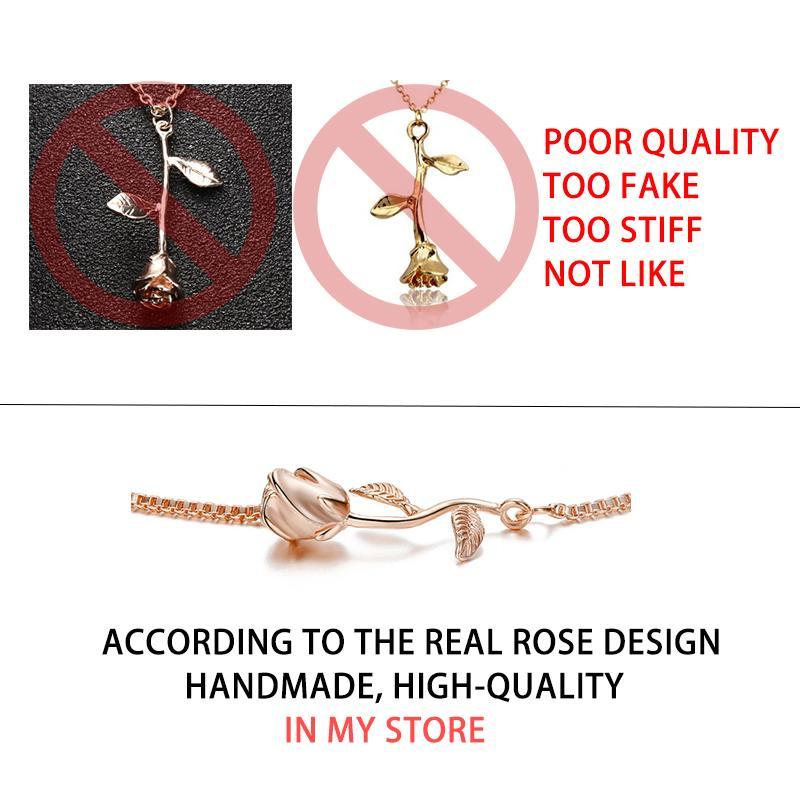 Rose-Flower-Pulseira Amor Encantos Pulseiras para As Mulheres De Noiva De Noiva Jóias Pulseras flor de rosa bileklik Presente Do Dia Dos Namorados