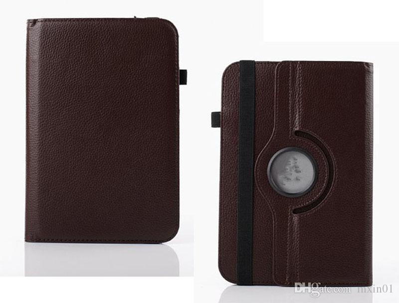 Universel 360 Rotation Réglable Flip En Cuir PU Stand Stand Cover Pour 7 8 9 10 10,1 10,2 pouces Tablet PC MID