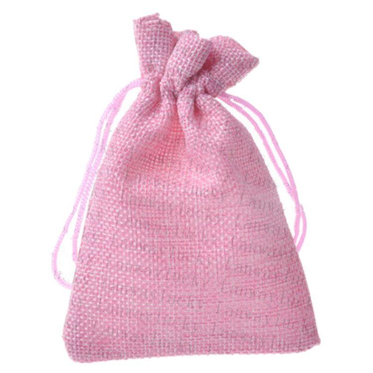 10 * 15cm 색 Linen Drawstring 가방 결혼식 호의 공예 DIY 크리스마스 파티 선물 가방 3.9 * 5.9 인치 / 많은