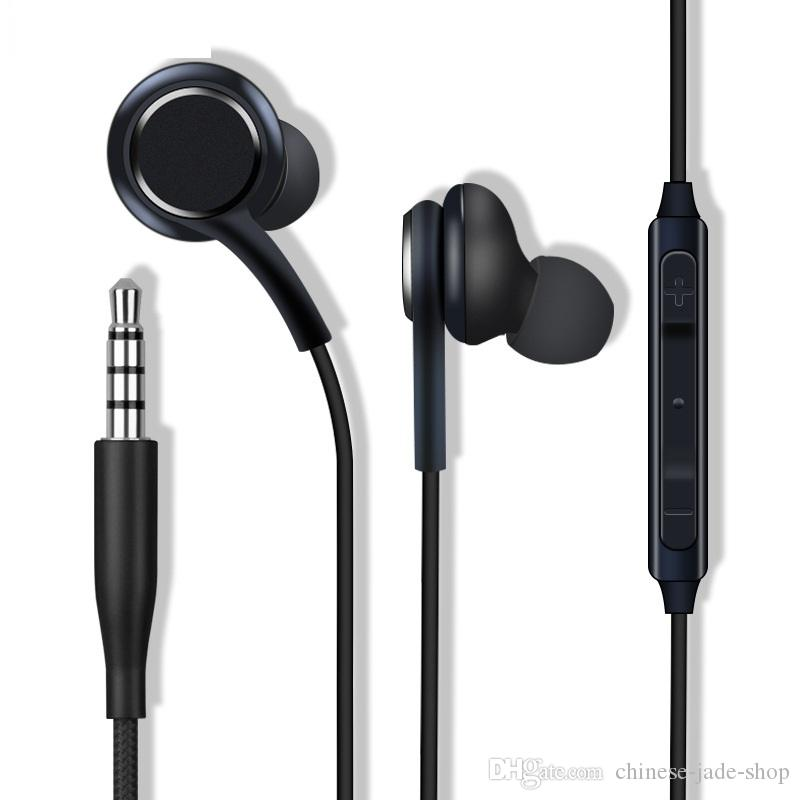 Neutral 6U Speaker S8 earphone Headset Black white In-Ear Headphones Handsfree For Samsung Galaxy S8 & S8 Plus OEM Earbuds 100PCS/LOT